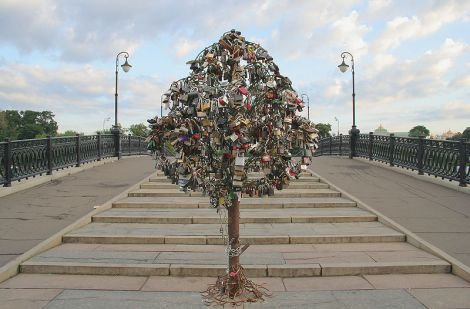 Love Locks in Moscow, Russia