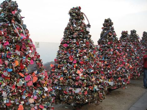 Love Locks in Seoul, South Korea